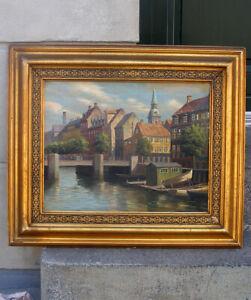 Frederik Svendsen (1885) View from Christianshavn Canal, Denmark. Fine salon oil