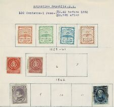 Argentina: small classic lot on homemade pages, unchecked, mixed condition