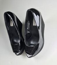 Steve Madden Black High Wedge Shoes. Size: 7.5M