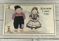 VINTAGE ACH, HOW I LOVE YOU POSTCARD POST CARD