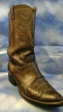 Texas Longhorns Women Western Brown Distress Leather college Boots, 10 D