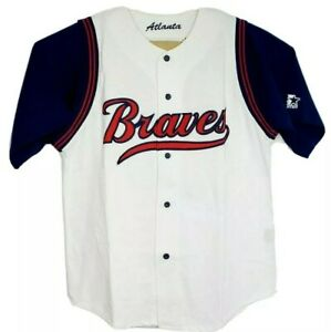 Vintage Starter Chipper Jones #10 Atlanta Braves Baseball Jersey Size Large NWT