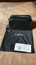 Chanel Glazed calfskin Small Coco Boy Camera Case Black - pre owned