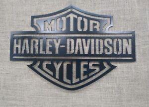 400x290mm Harley Davidson Oil Metal Sign Garage Tin wall sign Man Motorcycle Motorbike 2 Size Extra Large A3
