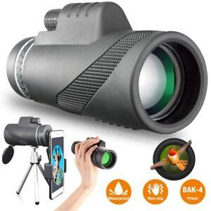 Monocular 40X60 HD Star Scope Telescope Phone Camera Zoom Lens + Tripod Holder