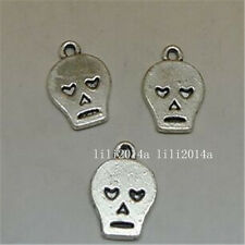 20pc Tibetan Silver SKULL Charm Beads Pendant accessories Findings PL733