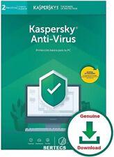 KASPERSKY ANTIVIRUS 2020 | 2 PC 2 YEARS 1 LICENCE GENUINE + PROXY SERVER
