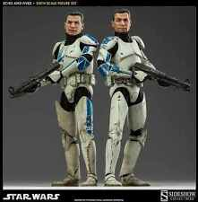 """SIDESHOW STAR WARS CLONE TROOPERS ECHO AND FIVES 1/6 SCALE 12"""" FIGURE 100201 NEW"""