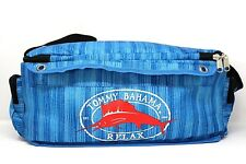 """Tommy Bahama Relax Marlin Blue Stripe Insulated Soft Side 16"""" Cooler Tote Bag"""