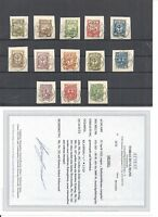 Memel, Klaipeda, Litauen 1923, Michelnr: 151-163 o, Briefstücke, BPP Fotoattest