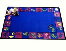 Educational Rug For Schools - Day Care - Kids Room 8' x 10' Alphabet Charlie.
