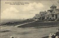 Falmouth Heights Cape Cod MA Grand Ave c1910 Postcard