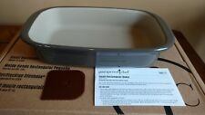 Pampered Chef Mint Condition Stoneware Small Baker GrayStone FREE SHIPPING #1421