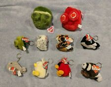 Lot of 11 Vintage Puffkin Keyrings and Puffkins Plush Swibco