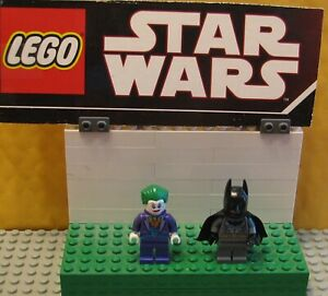 "SUPER HEROES  DC  LEGO  LOT  MINIFIGURE  MINIFIG  ""  JOKER  AND  BATMAN     """