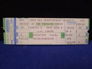 1979-1980 Los Angeles Lakers & Magic Johnson 1st Yr Authentic NBA Finals Ticket