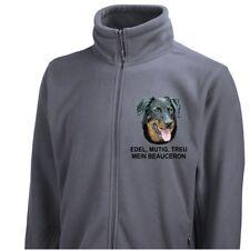 Fleecejacke Jacke BEAUCERON Stickerei by Siviwonder Hund