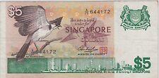 Singapore Bird $5 A/79 644172 XF