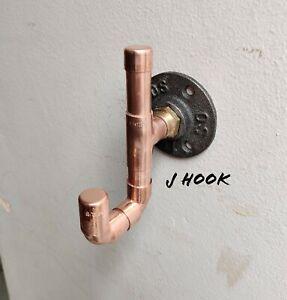 Industrial Designed Copper Pipe 'J' Hook