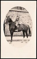 WW1 FRENCH RIDER ARMY CAVALRY HORSE WAR ANTIQUE RPPC PHOTO POSTCARD