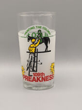 1984 Preakness Stakes 109th Pimlico Souvenir Glass Triple Crown Horse Racing
