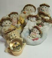 Vintage Dreamsicles Lot Of 8 Signed By Kristen Haynes Figurines 1990's Cherubs