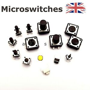 Micro Push Button Switch 4.3mm-12mm SPST Small Mini Momentary Tactile UK