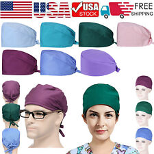 Ship From Usa Cotton Surgical Scrub Cap Doctor Nurse Bouffant Hat with Sweatband