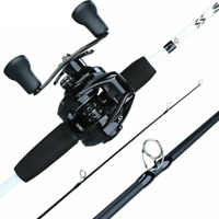Fishing Tackle Bait Casting Rod Reel Combo Beach Ocean River Fish Lure Rods Hard
