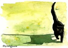 ACEO Limeted Edtion-Cat art print of an original watercolor by Anna Lee