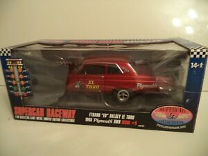 SUPER CAR COLLECTIBLES PLYMOUTH AWB EL TORO 1965 ISSUE #5 1/18TH SCALE   IN  BOX