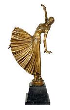 Magnifiques art deco bronze danseuse, Signé CHIPARUS
