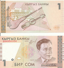 Kirgisistan /  Kyrgyzstan - 1 Som 1999 UNC - Pick 15