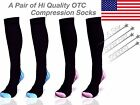 Hi Quality Gear OTC Compression Sport Socks  Stamina Anti Fatigue 1 & 3 pair lot