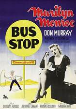 BUS STOP Movie POSTER 27x40 Marilyn Monroe Arthur O'Connell Hope Lange Don