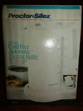 (Cord-Free) Proctor Silex 1.7 Liter Electric Kettle for Tea & Water Auto-Shutoff