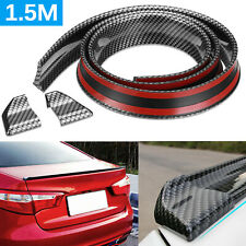 1.5M Flexible Car Rear Wing Lip Spoiler Tail Trunk Boot Roof Trim Universal 5FT
