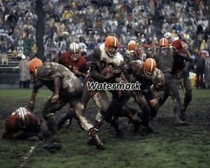 NFL 1962 Cleveland Browns Jim Brown Game Action vs 49ers Color 8 X 10 Photo Pic