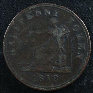 LC-48A4 Halfpenny token 1812 Lower Bas Canada Quebec Tiffin Breton 960