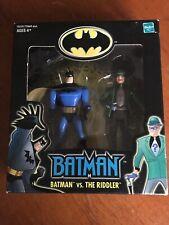 NEW IN BOX BATMAN VS THE RIDDLER FIGURE SET CARTOON SERIES 2001 HASBRO DC COMICS