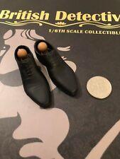 POPTOYS Detective Sherlock británica Vestido Negro Zapatos Y Clavijas Suelto Escala 1/6th