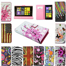 Magnet Leather Flip Card Wallet Slots Cover Case For Nokia Lumia 520 630 720 930