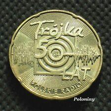"COMMEMORATIVE COIN OF POLAND -ANNIVERSARY CHANNEL 3 POLISH RADIO ""TROJKA"" (MINT)"