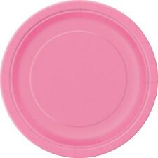 Party Supplies - Hot Pink Paper Dinner Plates 8pk Approx 23cm