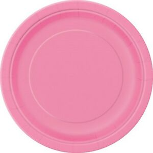 Hot Pink Party Plates 8pk 22cm - Hot Pink Magenta Party Supplies