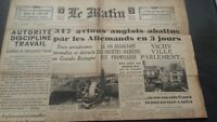Journal The Morning Jeudi 15 August 1940 N° 20.595 ABE