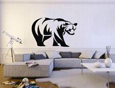 ik192 Wall Decal Sticker Decor American grizzly bear predator animal interior