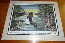 William Rodgers Jr. Boy Scouts of America Eagle Print BSA Signed Numbered 2000