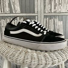 Vans Old Skool Mens Size 9 Lace Up Black Suede Leather Trainers . MR11836