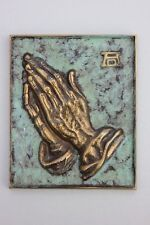 Betende Hände nach Dürer Gelbguss Relief patiniert